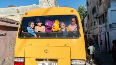Photo of New Versions of Elmo and Big Bird on Air in Sesame Street for Syrian Refugees